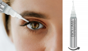 BIOLUMA eyelash growth serum application